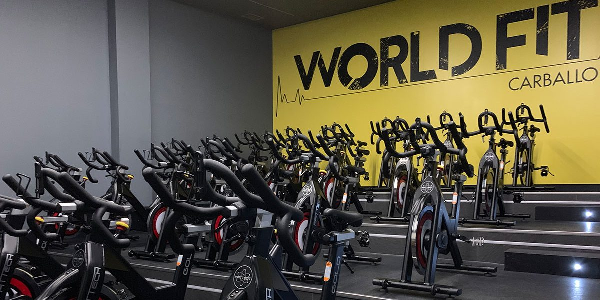Sala de world cycling de World Fit Carballo